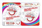 GSM / CDMA Telecom Prepaid Cell Phone Card in Customized Logo