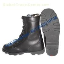 Full grain leather Ankle Military Combat Boot for Army Police Wear
