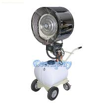 Industry oscillating pedestal mist water spray centrifugal blower ventilator draught fan with hand-pushing