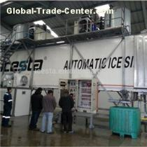 ICESTA Containerized Flake Ice Plants With Automatically Rake System And Ice Weighing And Delivering System 80t/24h
