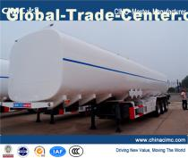 Cheap pricre petrol 3 axle oil Fuel tank semi trailer , 50000 liters Oil Fuel Tanker Trailer for sale