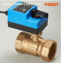 DC12V Compact Size Electric Motor Control Ball Valve