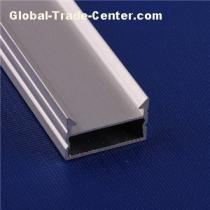 LED Extrusion Aluminum Track Channel With Plastic Milky/tranparent Cover