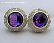 David Yurman 10mm amethyst earring