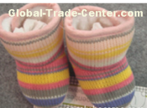 Baby shoes of various kinds of fabrics
