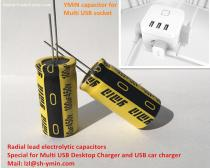 General radial aluminum electrolytic capacitors special for USB Power switch USB charger ROHS compliant