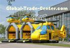 Adult Inflatable Bouncy Castle Durable FireRetardant Air Plane Type