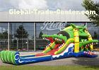 Colorful Lovely Bouncy Castle House Inflatable Crocodile Bounce House