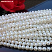 White round fresh water loose water pearl for jewelry