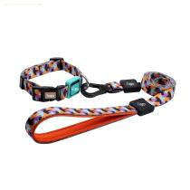 Lovable custom brand shiny polyester modern dog collar and leash