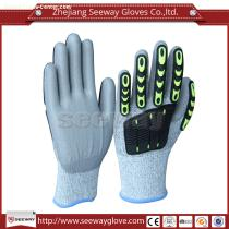 Seeway B510-D PU Palm Coating Safety Working Cut Resistant Mechanical Anti Vibration Gloves