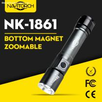 Zoomable Bottom Magnet Rechargeable LED Flashlight/LED Torch (NK-1861)