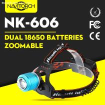 Rechargeable Adjustable Focusing Camping Riding LED Headlamp/Headlight (NK-606)