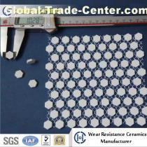 Alumina Ceramic hex tile matted for wear resistant liner