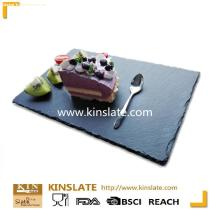Various shapes and sizes natural slate stone cheese board series black plates