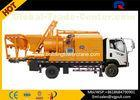 Truck Mounted Concrete Pump  , Concrete Truck Mixers 28m Max Mixing Output