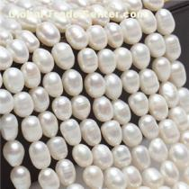 Near Round 6-7mm 7-8mm White Fancy Cheap 16inch 18inch Pearl Necklace Fashion Pearl Strand Nearly No Blemish