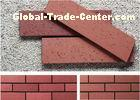 Customized Red smooth Split Face Brick for Exterior Wall Decoration