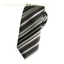 Fashion Black And White Striped Tie For Work
