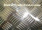 0 . 8mm - 5mm five bars embossed aluminum sheet for car parts or building