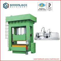 sliding deep drawing hydraulic press for kitchen double ss sink