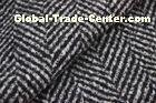 Herringbone Jacquard Pattern Knit Wool Fabric Black And White Color