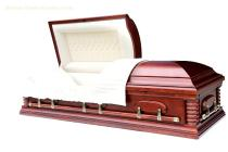 US style coffin with bed and cloth wooden casket