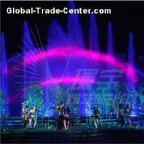 Large Scale Water Show night show in the theme park