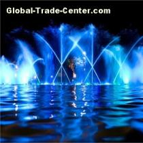 Running musical fountain Large outdoor fountain 3D fountain