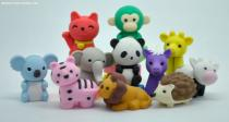 Animal shaped erasers