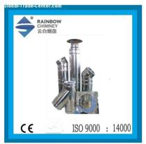 double wall stove chimney system