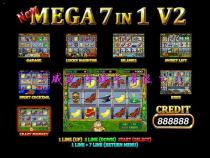 New Mega 7 in 1 V2 Yellow Board for Game Machine