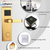 High quality smart hotel door lock with free software