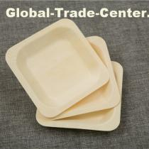 ECO-friendly taobao disposable bamboo square plates with low price