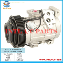 Car Auto AC Compressor for Toyota Four Seasons 78388 / 77388