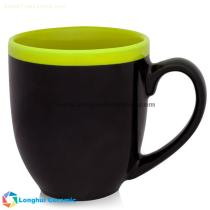 Two-tone halo customizable bistro ceramic mug