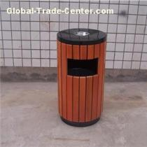 Outdoor Park Solid Wood Trash Bins