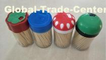 2.0*65mm colored custom wrapping cellophane bamboo and wooden toothpicks