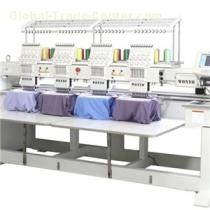 4 Head Multi Thread Embroidery Machine With Different Sizes Of Embroidery Hoops