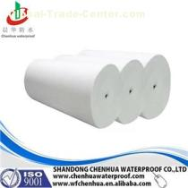 White Color Needle Punched Polyester Mat Reinforcement With 1.02m As Width For Modified Bitumen Membrane