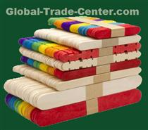 Colored wooden ice cream sticks for toy / colored toy bars