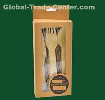 Biodegradable cutlery 140mm wooden forks 160 mm disposable forks set