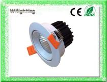 Aluminium 6w  COB LED Downlights Ceiling Lamps Spot Light LED Lamps Rotating
