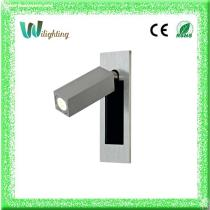 Aluminum 3w LED Wall Lamp Headboard Reading Lamp Night Light with swing head