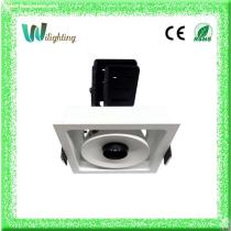Aluminium 12w CREE COB LED Square Downlight Ceiling Light Adjustable