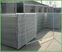 galvanized temp fence
