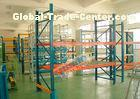 Double Deep Pallet Racking System For Warehouse , Each Level Adjustable Pallet Racking Box Shape Bea