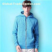 100% Cotton Thin Oversized Black With White Zipper And Strings Hoodie Sweatshirts For Men