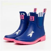 2017 New Chelsea Style Women Ankle Rubber Rain Boots With Elastic Cord Wholesale
