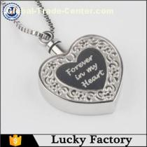 Customized Forever in My Heart Heart Cremation Urn Necklace Jewelry Memorial Ash Keepsake Cremation Jewelry Suppliers